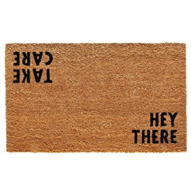 Calloway Mills 100511729 Hey There Doormat, 17  x 29 , Natural/Black