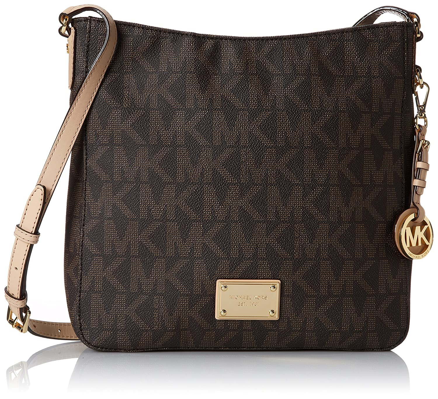 Amazon.com: Michael Kors Jet Set Travel Large Messenger: Michael ...
