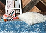 Unique Loom 3141400 Area Rug, 3' x 20' Runner, Blue