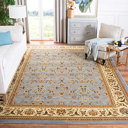 Safavieh Lyndhurst Collection LNH312B Traditional Oriental Light Blue and Ivory Area Rug 8 x 10