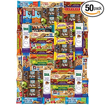 Ultimate Healthy Bars & Snacks Bulk Sampler By Variety Fun (Care Package 50  Count)