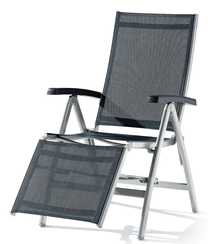 Sieger 985/A-G Relaxliege Bodega, Aluminium, Vollkunststoff und Textilux-Gewebe, graphit-grau