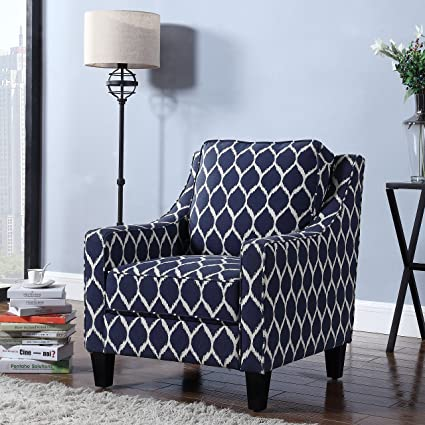 Fantastic Amazon Com Upholstered Accent Club Chair Solid Wood Machost Co Dining Chair Design Ideas Machostcouk