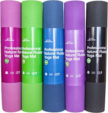 FiveFourTen Foldable Hot Yoga Mat | Non Slip Design for Extra Firm Grip | Absorbs Sweat & Prevents Smells | 100% Organic & Odorless Rubber | Enhanced ...
