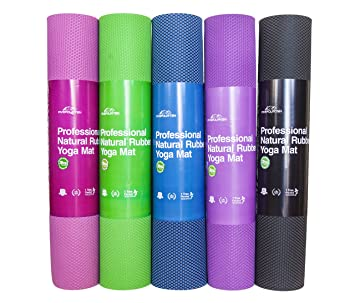 54f60f3b08 FiveFourTen Foldable Hot Yoga Mat | Non Slip Design for Extra Firm Grip |  Absorbs Sweat & Prevents Smells | 100% Organic & Odorless Rubber | Enhanced  ...