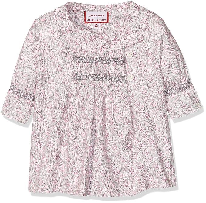 neck & neck 17V07101.34, Blusa para Niñas, Rosa (Coral Oscuro)