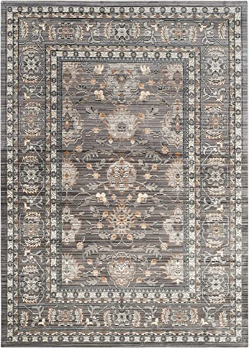 Safavieh Valencia Collection VAL112D Mauve and Grey Vintage Distressed Silky Polyester Area Rug 8 x 10
