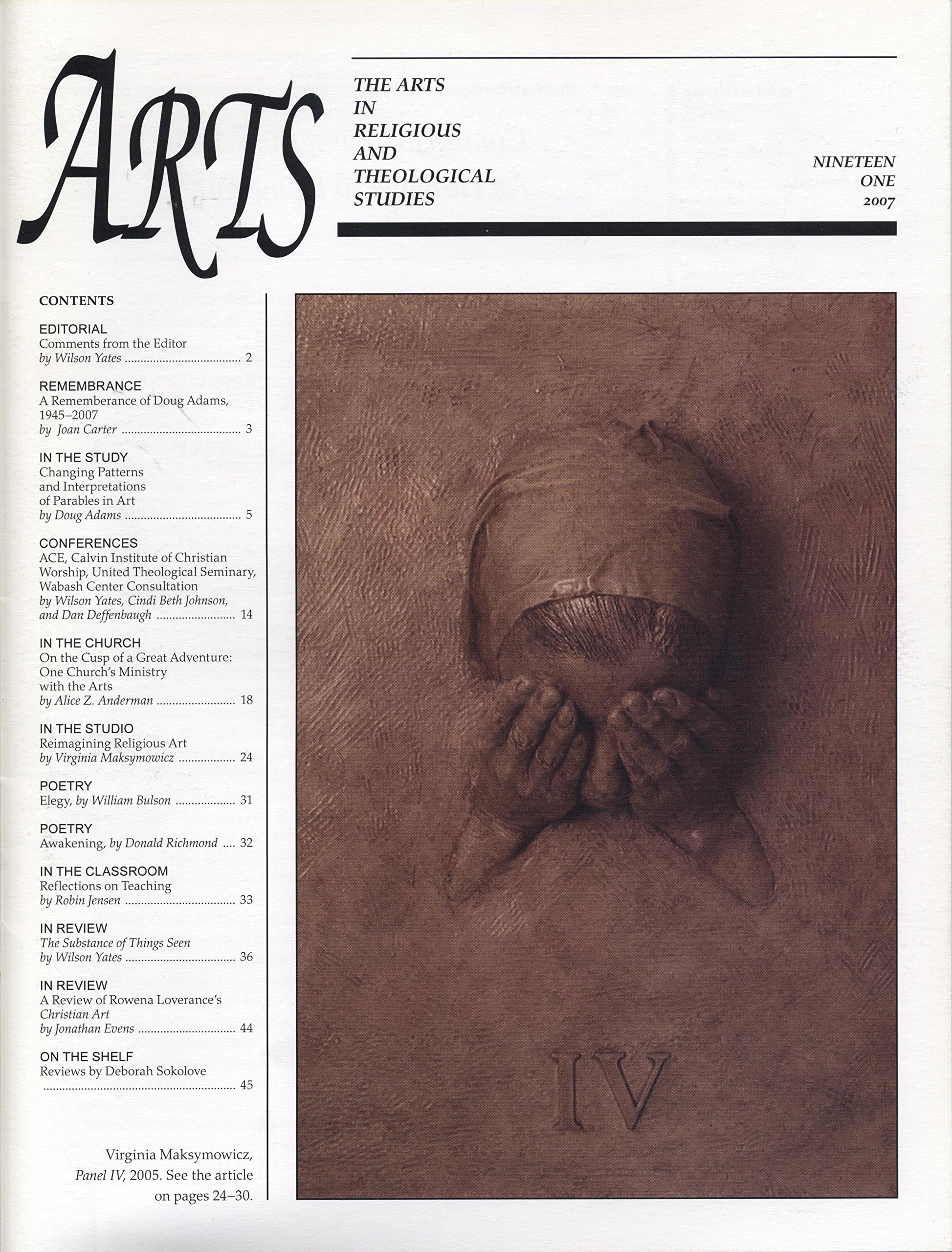 ARTS: The Arts in Religious and Theological Studies (vol. 19, no. 1) 2007 pdf