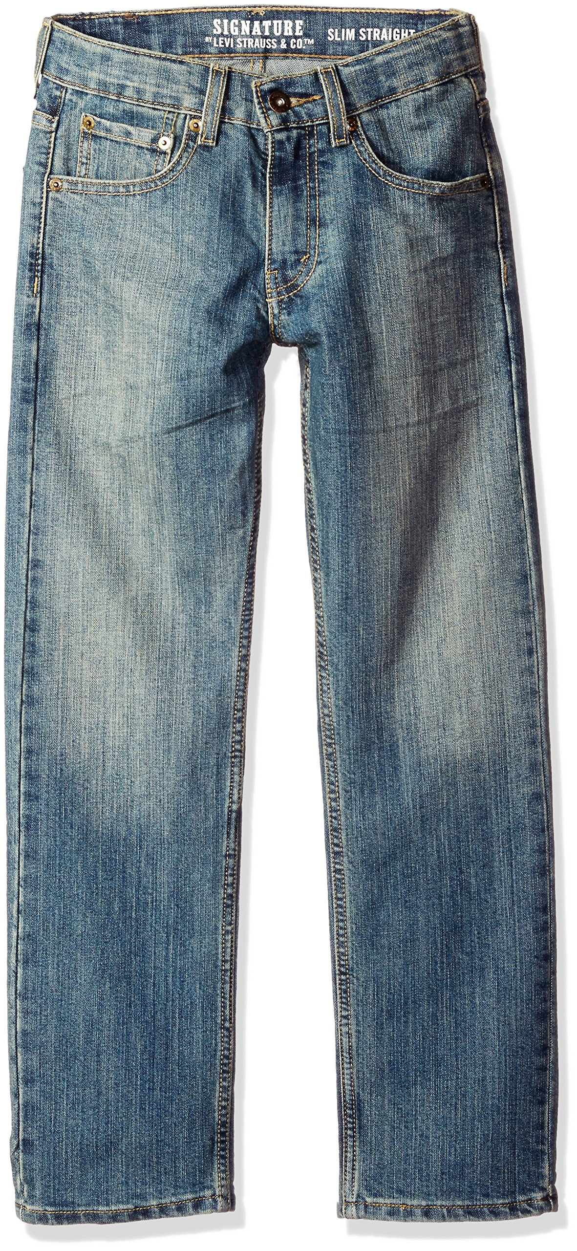 7fdbda28315 Galleon - Signature By Levi Strauss & C Big Boys' Modern Straight Jeans,  Shale, 10