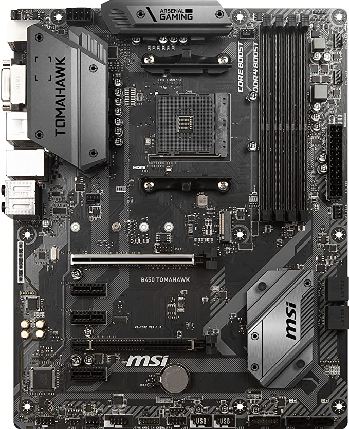 MSI B450 Tomahawk - Placa Base (AM4, AMD B450, 1 x PCI-E 3.0 x16 ...