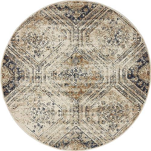 Unique Loom Chateau Distressed Vintage Traditional Textured Area Rug_VIL005