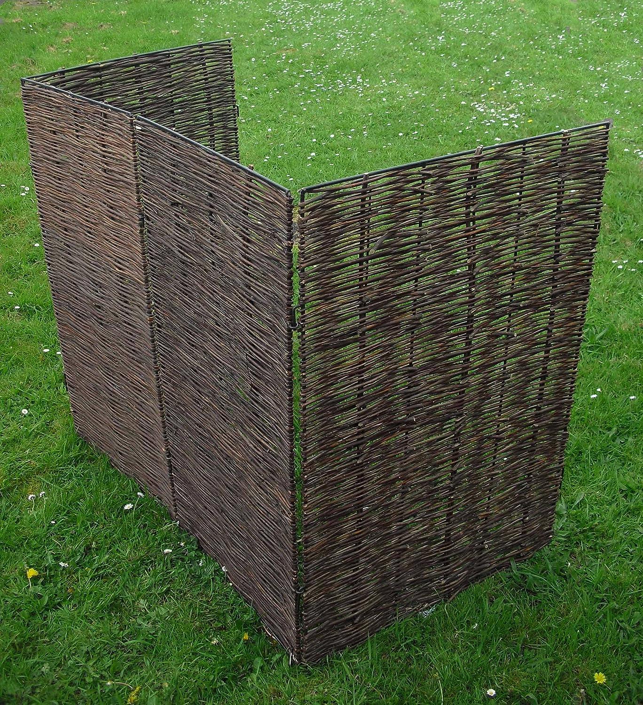 garden screen. Selections Willow Wheelie Bin Screen (Double): Amazon.co.uk: Garden \u0026 Outdoors