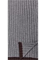 Noble Mount Men's Uptown Premium Knit Texture Ribbed Scarf
