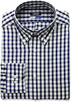IZOD Men's Regular Fit Check Buttondown Collar Dress Shirt