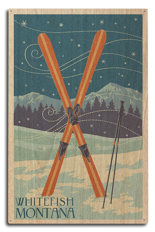 高級感 Whitefish、モンタナ州 x – B073668994 Crossed Skis – 活版 Sign 16 x 24 Giclee Print LANT-47288-16x24 B073668994 10 x 15 Wood Sign 10 x 15 Wood Sign, ウレシノチョウ:b4ae66cc --- akdeveloper.in