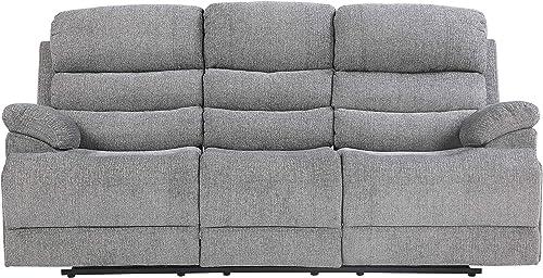 Lexicon Betong Power Double Reclining Sofa, Smoke Grey