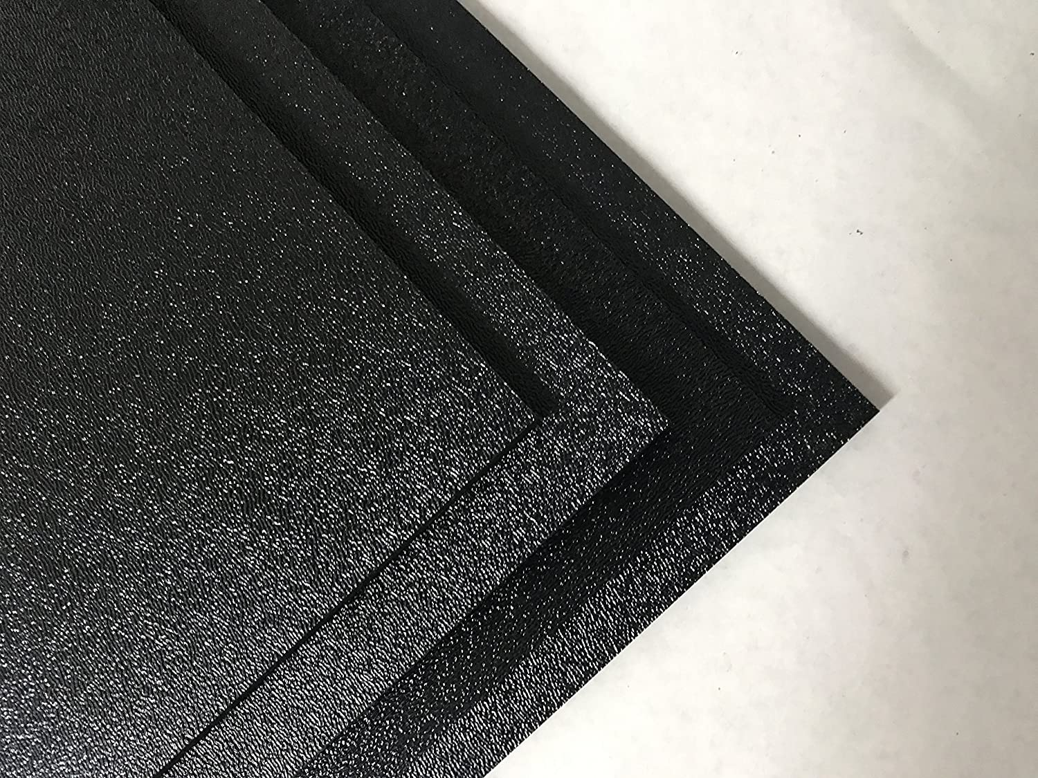 """ABS Black Plastic Sheet 1/8"""" x 24"""" x 24"""" Textured 1 Side Vacuum Forming ( Pack of 4 )"""