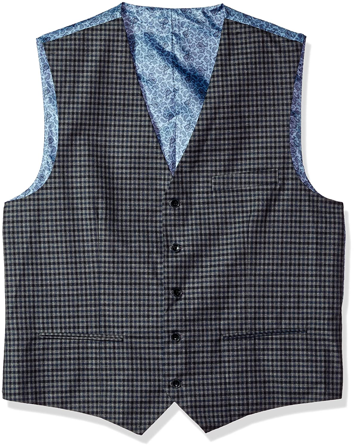Alexander Julian Colours Men's Big & Tall Modern Fit Check Suit Separate Vest Alexander Julian Child Code 891-010V