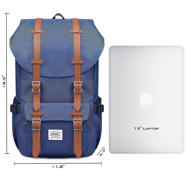KAUKKO Rucksack Studenten Backpack 17 Zoll für 15    Notebook Lässiger Daypacks Schüler Bag Schultaschen of 2 Side Pockets für Wandern Reisen Camping B00XKUQQG4 Daypacks Neue Produkte im Jahr 2018 2c5c0c