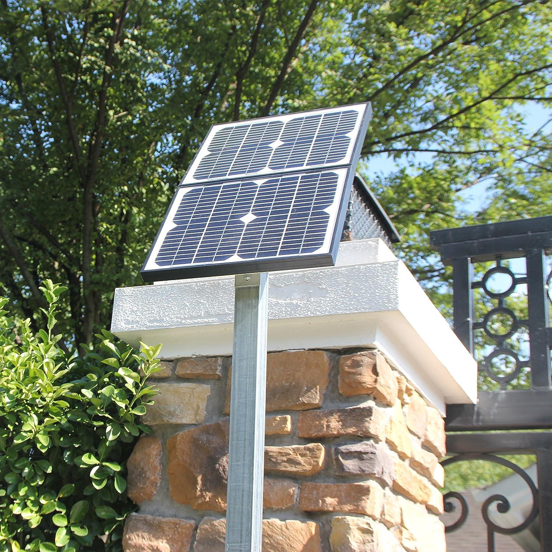 TOPENS A5S Ouvre-portail /électrique automatique /à /énergie solaire pour portail unique jusqu/à 250 kg ou 5 m Contr/ôleur solaire et clignotant inclus