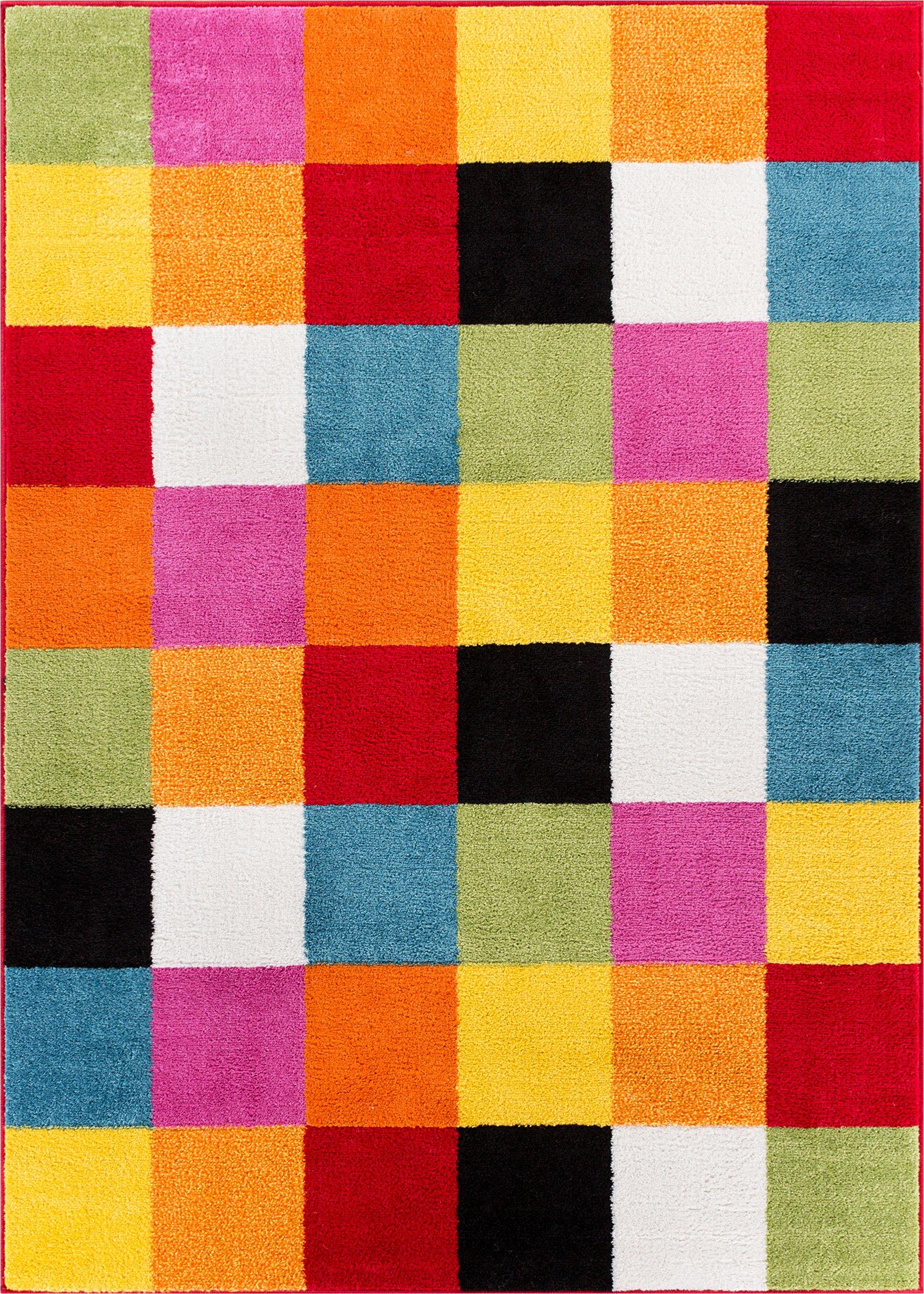Well Woven 09534 Kids Rug Starbright Bright Square Modern Geometric x 5 Area, 3'3'' x 5', Multi