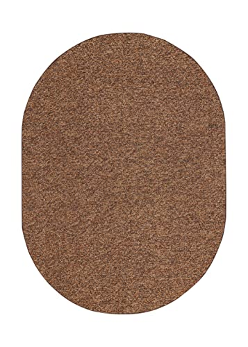 Outdoor Artificial Turf Chocolate Area Rugs with Premium Non Skid Backing Great for Decks, Patio s Gazebo s to Pools, Docks Boats and Other Outdoor Recreational Purposes 3 x5 Oval
