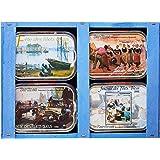 Les Mouettes d'Arvor Caissette Filets Bleus 4x115g boites de sardines - Lot de 3