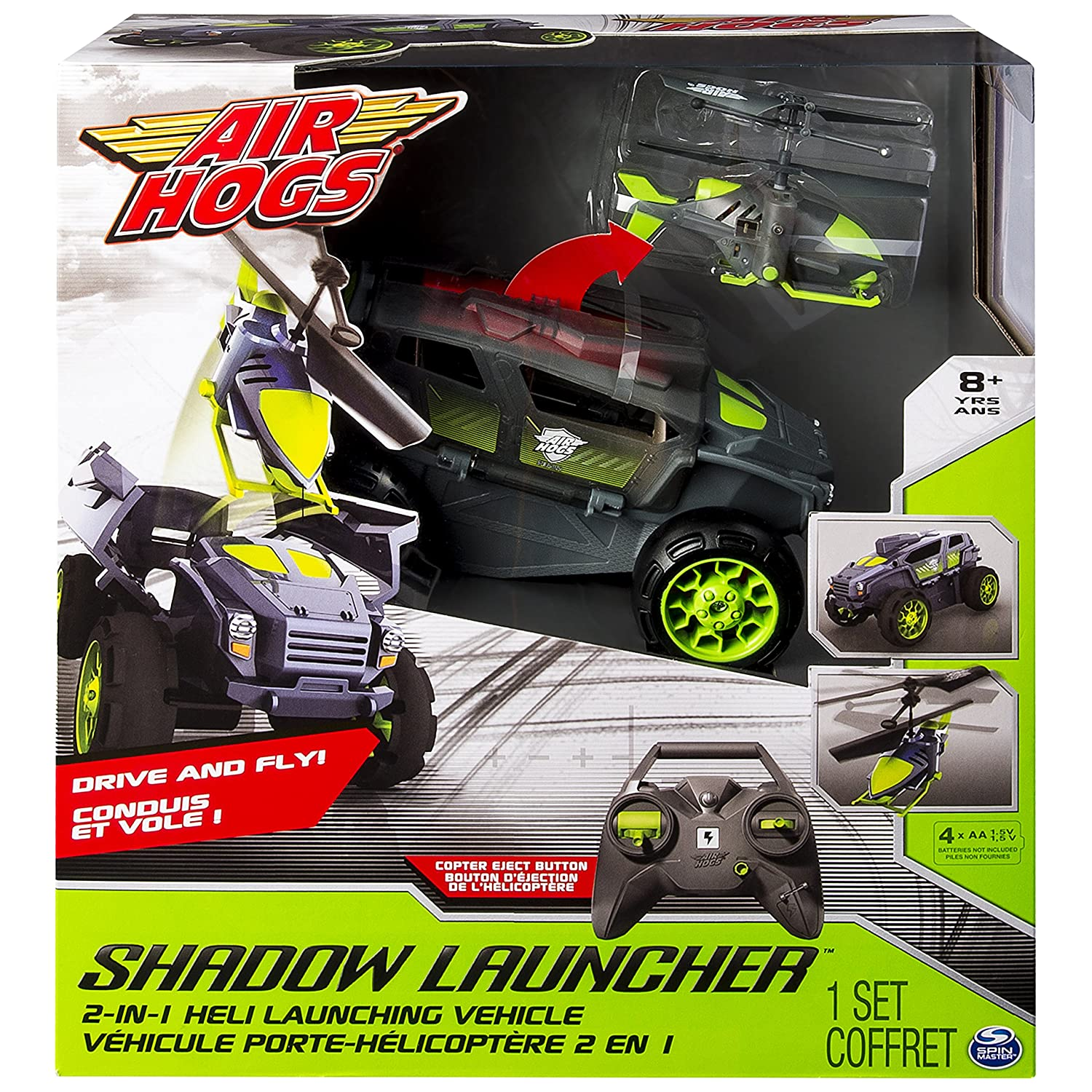 Spin Master Air Hogs Shadow Launcher Remote Controlled Car ...