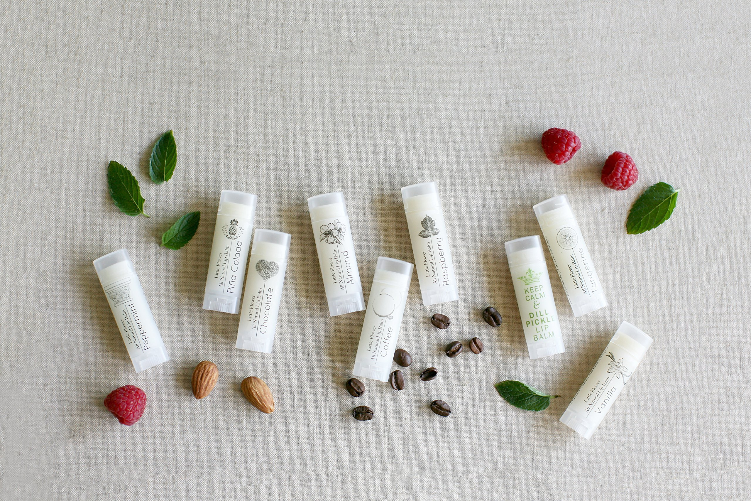 Set of 3 Handmade Natural Lip Balms