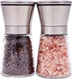 Premium Stainless Steel Salt & Pepper Grinder with Adjustable Coarseness, Set of 2