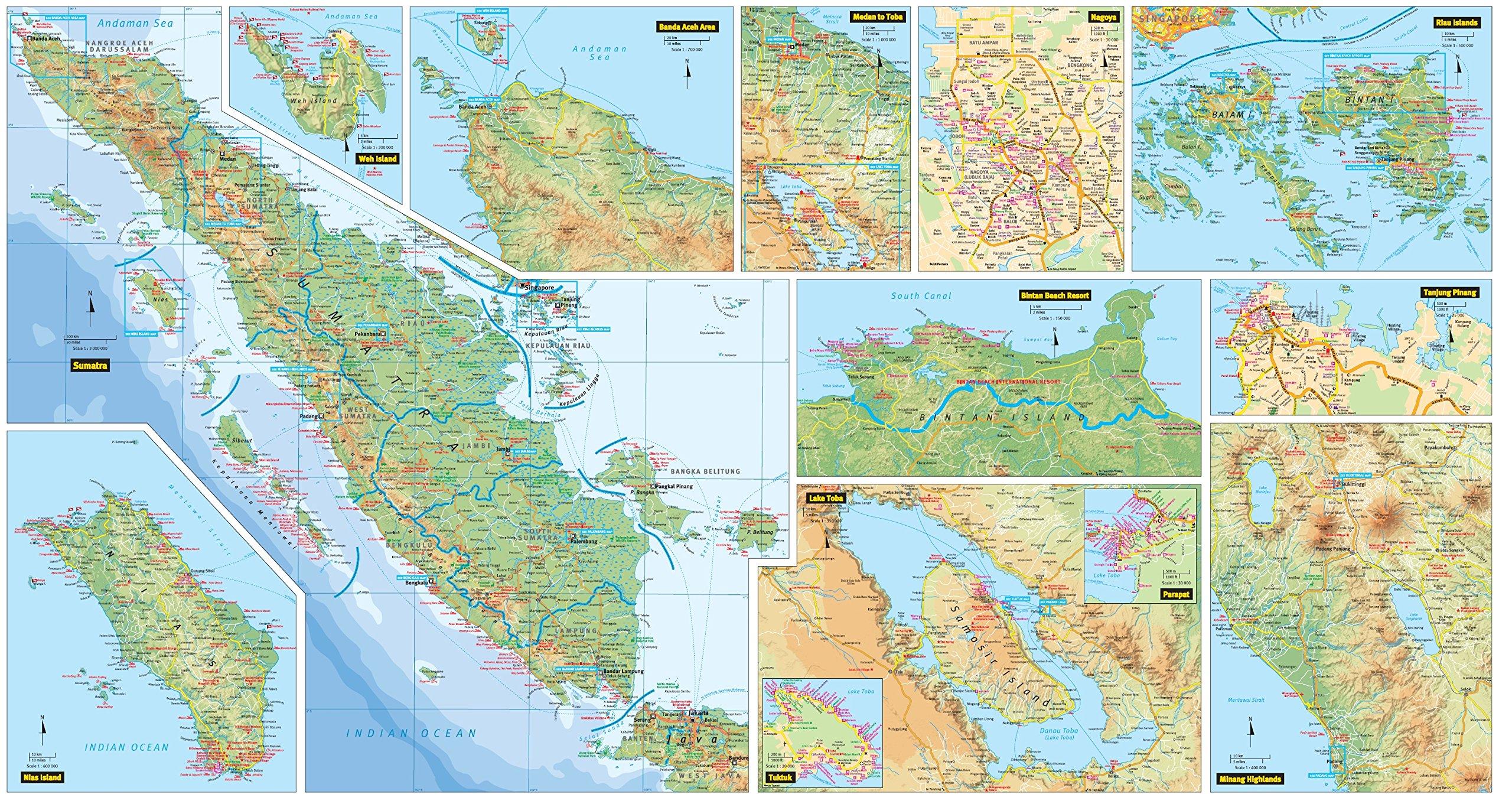 Sumatra Medan Travel Map Fifth Edition Periplus Travel Maps