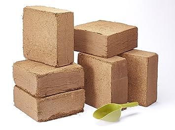 6 x 70 L Orgánica coco turba gratis Fibra de coco bloques – hace que hasta
