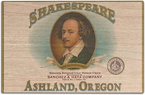 Amazon Com Lantern Press Ashland Oregon Shakespeare Cigar Box Label 10x15 Wood Wall Sign Wall Decor Ready To Hang Home Kitchen