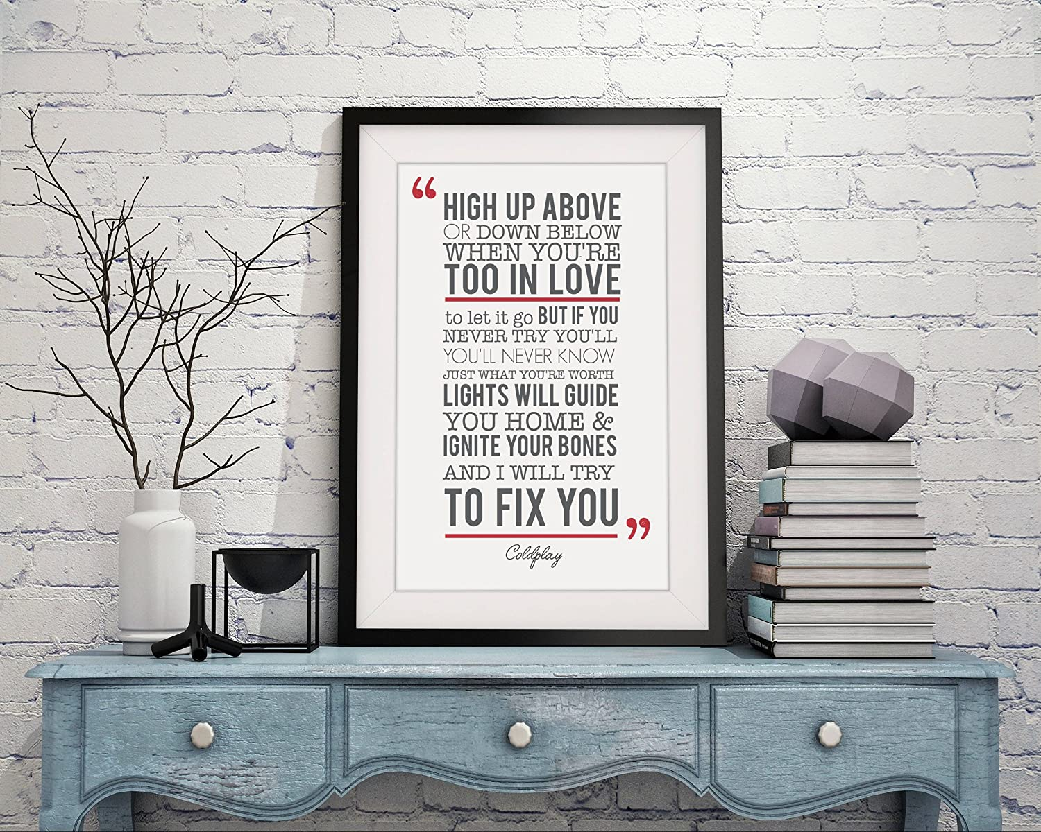 Four Leaf Clover Gift Shop Coldplay Fix You Song Lyrics Gift ...