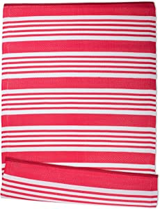 DII Reversible Indoor Woven Outdoor Rug, 4x6', Multi-Stripe Coral