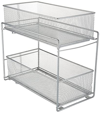 Amazon.com - ORG 2-Tier Mesh Steel Mesh Double Sliding Cabinet ...