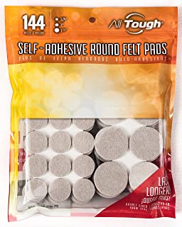 Heavy Duty Round Self Adhesive Felt Furniture Pads (144 Pcs) For Surface  Protection By