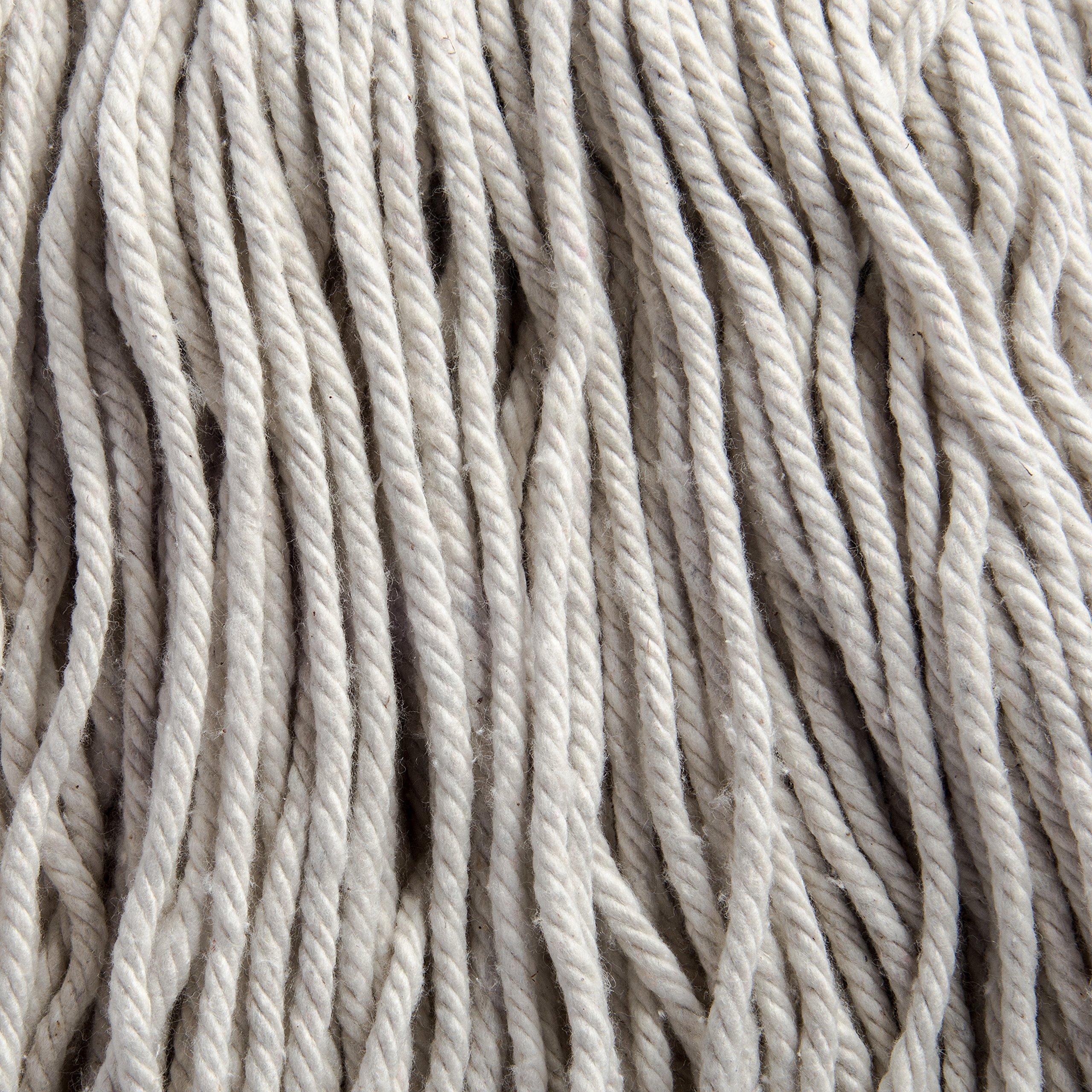 Carlisle 369024C00 Flo-Pac Kwik-On #24 Cotton Screw Top Cut-End Wet Mop, 18'' Length (Pack of 12) by Carlisle (Image #3)