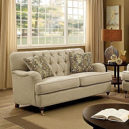 Amazon.com: Furniture of America Claira Traditional Deep ...