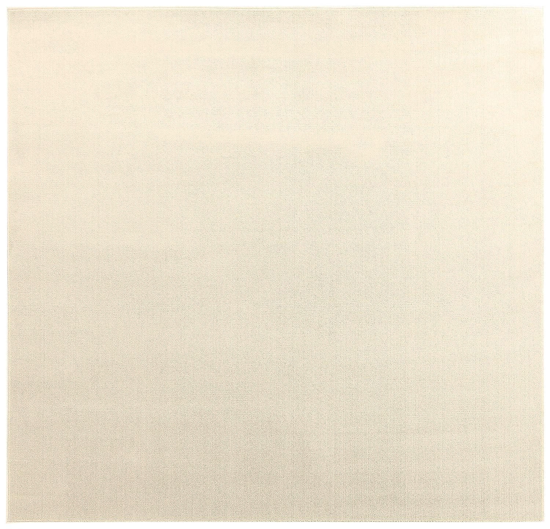オーダーラグ ポリエステルソフトプレーン アイボリー 幅105cm 長さ135cm アレルブロック 防音 B01J1QD58C  135 センチメートル