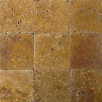 Wohnrausch Wfg1010 Travertin Fliese Gold Antik Hell Bis Dunkelgold 10cm X 10cm X 1cm 50 Stuck