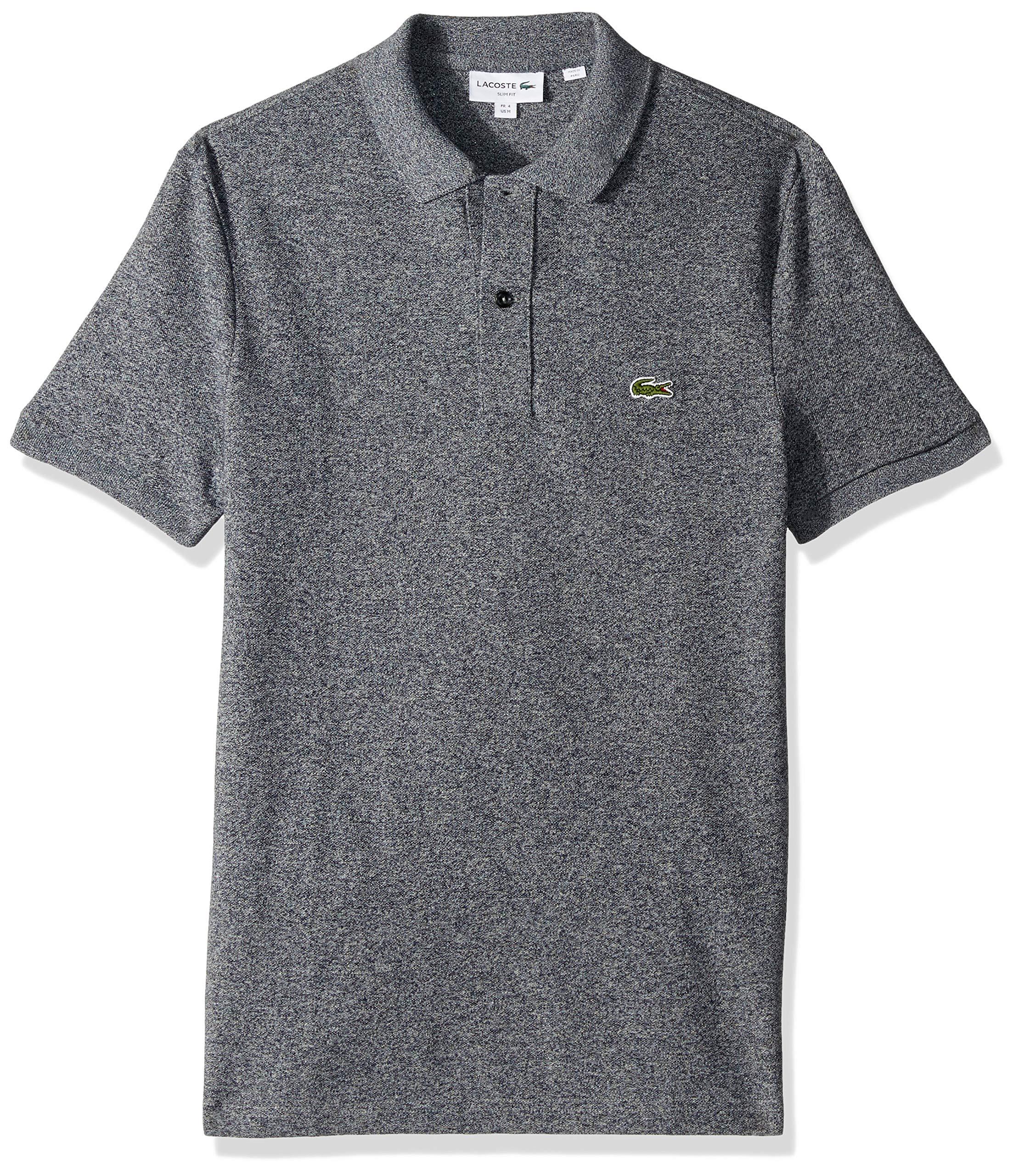 Lacoste Men's Short Sleeve Classic Pique Slim Fit Polo Shirt, bleu Marine Moline, XXX-Large