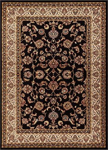 Well Woven Barclay Sarouk Black Traditional Area Rug 6'7'' X 9'6''