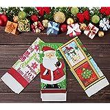 Festive Set of 3 New Xmas Tea Towel Christmas Kitchen Towels Santa