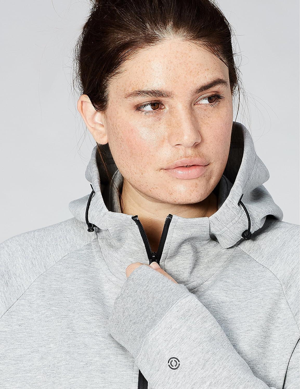 Core 10 Womens Brand XS-3X Motion Tech Fleece Fitted Full-Zip Hoodie Jacket
