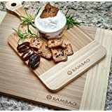 Bamboo Cutting Boards Set, Natural Wood Cutting Board with Groove, Kitchen Wooden Chopping Board for Meat & Veggie Prep, Bread Board Wood with Handle for Serving Cheese & Charcuterie, A Great Value