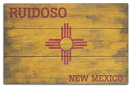 Amazon.com: Ruidoso, New Mexico - State Flag - Rustic Painting ...
