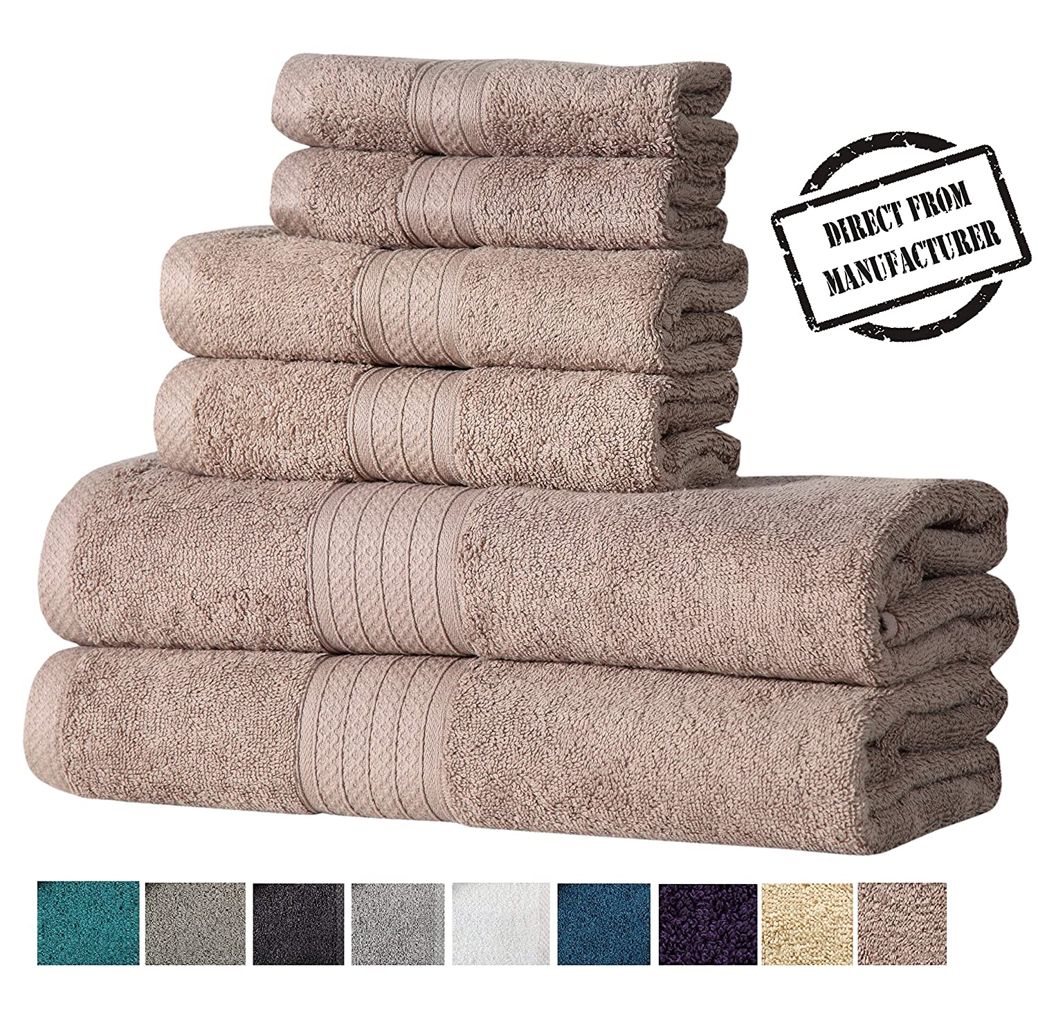 "Avira Home 2 Piece Bath mat Set, Step Out Bathmat Set 20""x30"", 100% Cotton, Super Soft, Plush & Absorbent, Washable Tub mat Set"