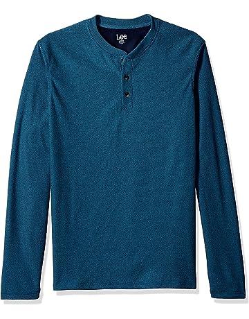 06be71eb LEE Men's Shirt Weekender Long Sleeve Casual Henley Regular Big Tall