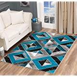 GLORY RUGS Area Rug Abstract Diamond Modern Modern Distressed Carpet Bedroom Living Room Contemporary Dining Accent…